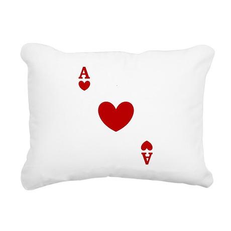 card ace of hearts.png Rectangular Canvas Pillow