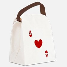 card ace of hearts.png Canvas Lunch Bag