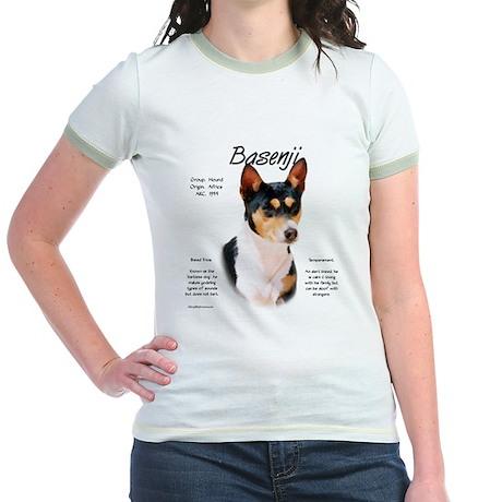 Basenji (tricolor) Jr. Ringer T-Shirt