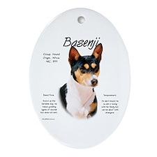 Basenji (tricolor) Oval Ornament