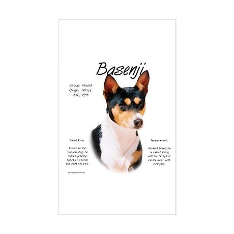 Basenji (tricolor) Rectangle Sticker