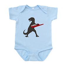 T-Rex Playing the Keytar Infant Bodysuit