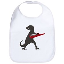 T-Rex Playing the Keytar Bib