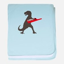 T-Rex Playing the Keytar baby blanket