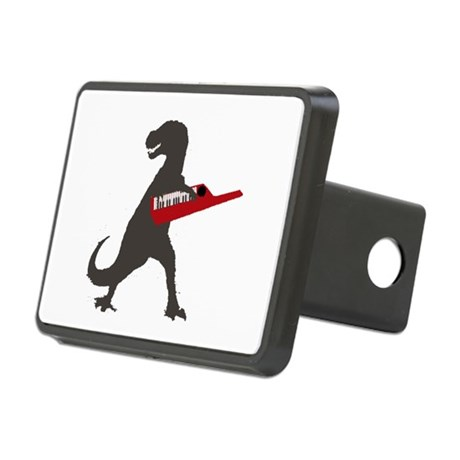T-Rex Playing the Keytar Rectangular Hitch Cover