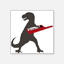 "T-Rex Playing the Keytar Square Sticker 3"" x 3"""