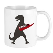 T-Rex Playing the Keytar Mug