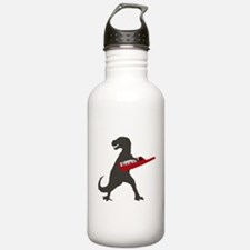 T-Rex Playing the Keytar Water Bottle