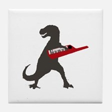 T-Rex Playing the Keytar Tile Coaster
