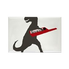 T-Rex Playing the Keytar Rectangle Magnet