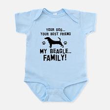 Beagle dog breed designs Infant Bodysuit