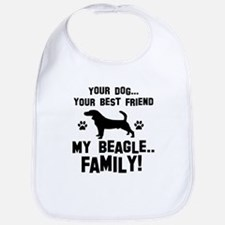 Beagle dog breed designs Bib