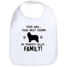 Bearded Collie dog breed designs Bib