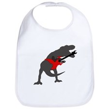 T-rex Playing the Guitar Bib