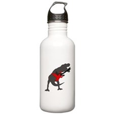 T-rex Playing the Guitar Water Bottle