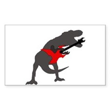 T-rex Playing the Guitar Decal