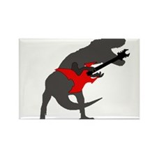 T-rex Playing the Guitar Rectangle Magnet