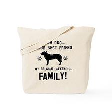 Belgian Laekenois dog breed designs Tote Bag