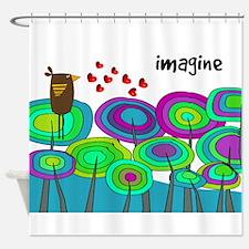 imagine cell case blue HORIZI.PNG Shower Curtain