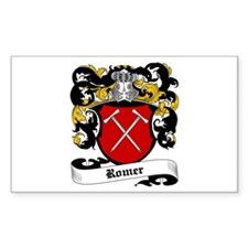 Romer Coat of Arms Rectangle Decal