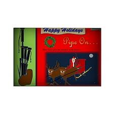 Happy Holidays (Vignette Border) Rectangle Magnet