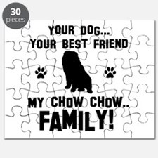 Chow Chow dog breed designs Puzzle