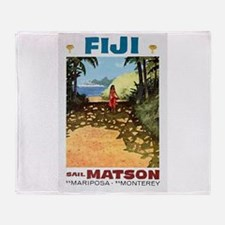 Fiji sail matson Throw Blanket