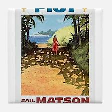 Fiji sail matson Tile Coaster