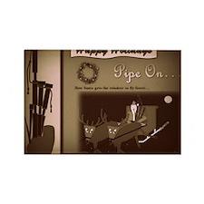 Happy Holidays (B/W Retro Film) Rectangle Magnet