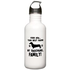 Daschund dog breed designs Sports Water Bottle