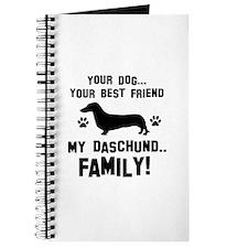 Daschund dog breed designs Journal