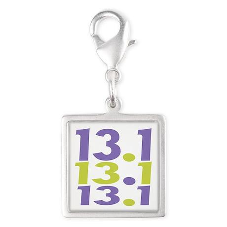 13.1 Silver Square Charm