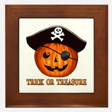 Trick OR Treasure Pirate Framed Tile