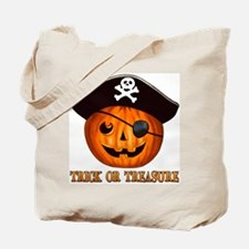 Trick OR Treasure Pirate Tote Bag