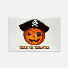 Trick OR Treasure Pirate Rectangle Magnet