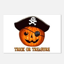 Trick OR Treasure Pirate Postcards (Package of 8)
