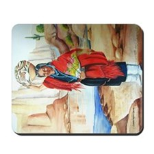 Red Shawl Mousepad