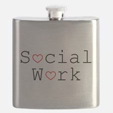 Social Work Hearts Flask