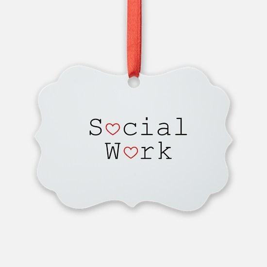 Social Work Hearts Ornament