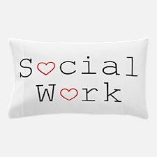 Social Work Hearts Pillow Case