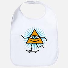 Pyramid eye skate god Bib