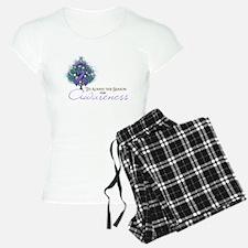 Violet Ribbon Xmas Tree pajamas