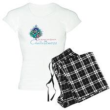 Thyroid Cancer Ribbon Xmas Tree Pajamas