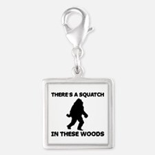 squatchinthesewoods.png Silver Square Charm