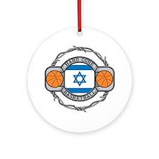 Israel Basketball Ornament (Round)
