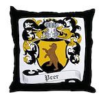 Peer Coat of Arms Throw Pillow