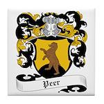 Peer Coat of Arms Tile Coaster