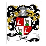 Paur Coat of Arms Small Poster