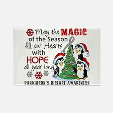 Holiday Penguins Parkinsons Rectangle Magnet
