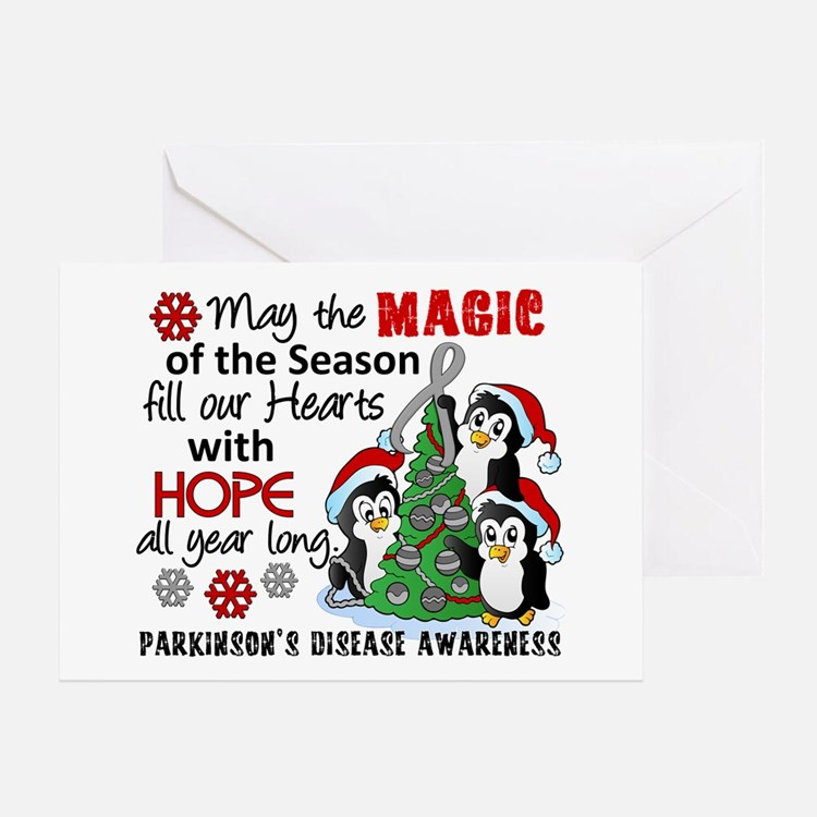 Holiday Penguins Parkinsons Greeting Card